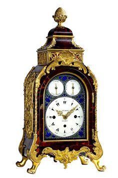 William Rich, London - A splendid George III red tortoiseshell veneer pendulum clock with half hour/hour strike and carillon with four different tunes activating on the hour, produced for the Ottoman market