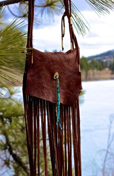 Ninepipes Elk Skin Fringe Bag by MIAKODAcreations1 on Etsy Bought this!!!!