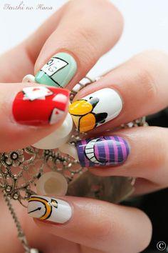 Alice & Wonderland nails