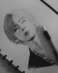 """[wip + finished] """"You could break my heart in two But when it heals, it beats for you I … Kpop Drawings, Pencil Art Drawings, Art Drawings Sketches, Taehyung Fanart, Bts Taehyung, Poses References, Dibujos Cute, Korean Art, Art Hoe"""