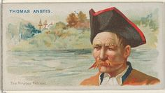 """Thomas Anstis, The Pirates' Retreat, from the """"Pirates of the Spanish Main"""" series (N19), for Allen & Ginter Brand Cigarettes, c1888."""