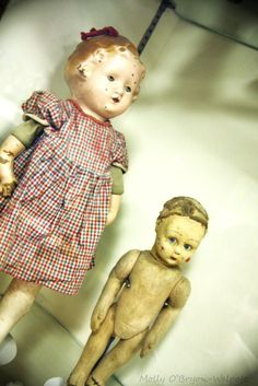 Antique Doll Museum - two very sweet dolls (fine art photography)