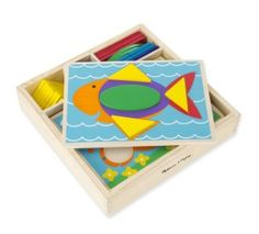 Melissa & Doug Beginner Wooden Pattern Blocks Educational Toy With 5 Double-Sided Scenes And 30 Shapes : Target Wooden Blocks For Kids, Kids Blocks, Wooden Pattern, Math Manipulatives, Wooden Storage Boxes, Melissa & Doug, Free Fun, Creative Play, Pattern Blocks