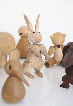 Wooden rabbit by Kay Bojesen. Photo by Frida Ramstedt, via Trendenser.se