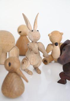 Wooden rabbit by Kay Bojesen. Photo by Frida Ramstedt, via Trendenser.se