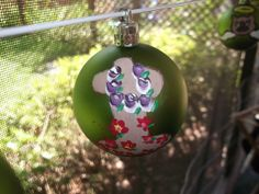 Cross With Purple Rose Garland Christmas Ornament by missy69, $4.99 #onfireteam #ornament #Christmas