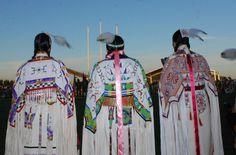 Traditional Native American buckskin dancers