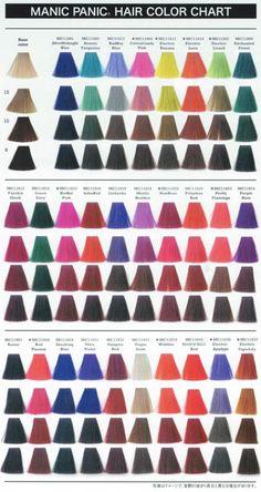 Manic Panic colour chart