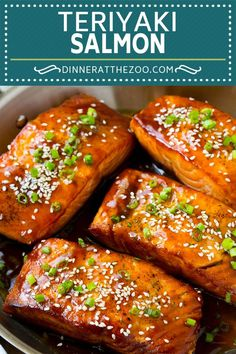 dinneratthezoo teriyaki healthy salmon recipe dinner asian easy fish Salmon Teriyaki Recipe Easy Salmon Recipe Asian SalmonYou can find Salmon recipe and more on our website Salmon Recipe Pan, Baked Salmon Recipes, Seafood Recipes, Cooking Recipes, Healthy Recipes, Asian Fish Recipes, Sesame Salmon Recipe, Easy Fish Recipes, Chinese Recipes