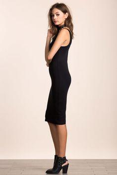 Zip Back Midi Dress