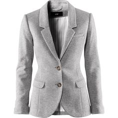 H&M Jacket (655 UAH) ❤ liked on Polyvore featuring outerwear, jackets, blazers, coats, tops, women, blazers jersey, cotton blazer, cotton lined jacket and pocket jacket