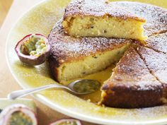 This is one of those lemon yoghurt cakes that has it all – punchy flavour from the passionfruit and lemon, an incredible texture, and it keeps well. Nici Wickes' lemon passionfruit cake is a winner