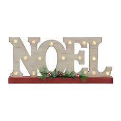 Noel LED Wood Word Block | Kirklands