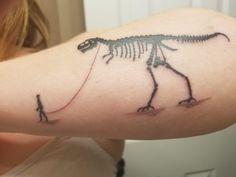 My pet dino by Mike Drljaca at Brew City Tattoo Milwaukee WI Amazing Tattoos, Cool Tattoos, Tatuagem Hot Rod, Dinosaur Tattoos, City Tattoo, Animal Tattoos, Dinosaurs, Milwaukee, Tattos