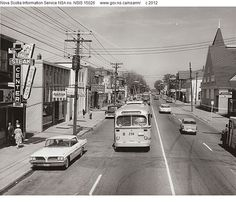 Quinpool Road, 1960-1 Halifax Map, Nova Scotia Travel, Dartmouth, Movie Theater, Historical Photos, Old Photos, Street View, Canada, Explore