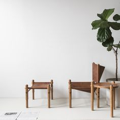 Wood And Cow Hide Bench For Dining Tables
