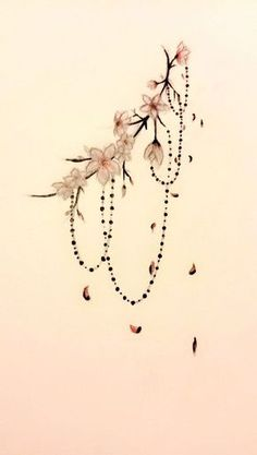 Oooo I really like this  but with a cross at bottom like a rosary.