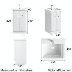 Mode Ellis white cloakroom floorstanding vanity unit and basin 450mm Downstairs Cloakroom, Master Bathroom, Under Sink Storage Unit, Basin Design, Basin Mixer Taps, Neat And Tidy, Vanity Units, Bathroom Furniture, Engineered Wood