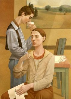 """""""Morning Mail"""" -  painted by Alan Feltus  (2004)"""