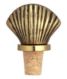 Flaschenkorken mit Griff aus geprägtem Metall. Länge ca. 7,5 cm.