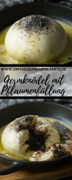 Einfaches Rezept für selbstgemachte Germknödel mit Vanillesauce Fluffy, deliciously filled and easy to make: my recipe for yeast dumplings with plum filling and homemade vanilla sauce Recipes With Yeast, My Recipes, Dessert Recipes, Cooking Recipes, Budget Freezer Meals, Frugal Meals, Easy Meals, Healthy Recipes On A Budget, Cooking On A Budget