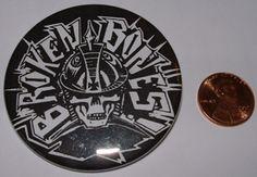 Broken Bones 2-inch Mega Button $1.95 #punk #music #buttons #accessories www.drstrange.com