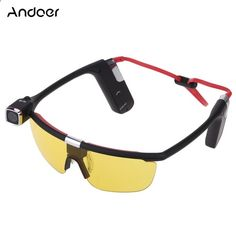 Andoer Sunglasses Handsfree Eyewear Wearing Action Sports Camera Camcorder Video Recorder DV DVR HD 1080P 30 FPS 140�� Wide Angle Wifi Smartphone APP Remote Control with Mic for iPhone Samsung IOS Android
