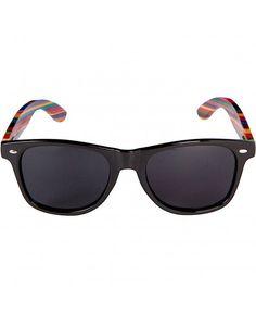 08f3490618 Iambcoolin.com  WOODIES Rainbow Wood Wayfarer Sunglasses with Black  Polarized Lenses  Sunglasses   Eyewear