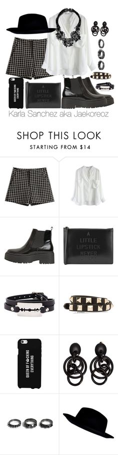 """""""""""Oh baby, you can devastate me."""""""" by jaekoreoz ❤ liked on Polyvore featuring Chicwish, Jeffrey Campbell, Lulu Guinness, McQ by Alexander McQueen, Valentino, LG, Monies, Noir Jewelry, River Island and Miriam Haskell"""