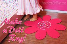 Make a doll rug2