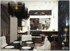 Home: интерьер, зd визуализация, квартира, дом, кухня, минимализм, 30 - 50 м2, интерьер #interiordesign #3dvisualization #apartment #house #kitchen #cuisine #table #cookroom #minimalism #30_50m2 #interior