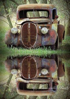 Old Truck Photography, FORD PICKUP, 5 x 7 art print, rusty vintage