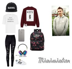 """""""Miniminter inspired outfit #sidemen"""" by mollie-fagan on Polyvore featuring Vetements, WithChic, Studio Concrete, adidas, Native Union, Spiritual Gangster, Frends and Vans"""