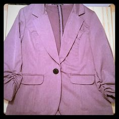 Maurices Blazer Gorgeous purple blazer, lavender color. Hard to get in picture Maurices Jackets & Coats Blazers