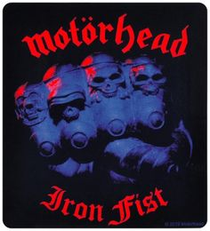 Sticker MOTORHEAD - Iron Fist