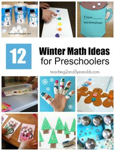 Snowman, trees and gingerbread men are just some fun counting objects for preschoolers! A great roundup of winter math ideas do dive into today!