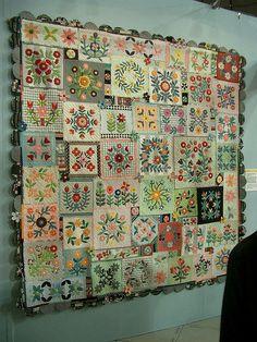 embroidered quilt...