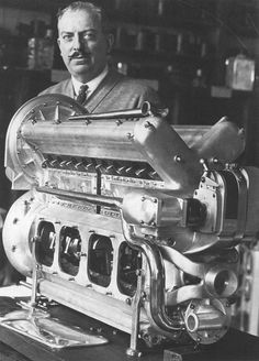 Harry Miller with an inline DOHC 8. True genius, his engines and cars were considered works of art.
