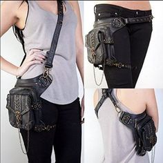 Rock Leather & Vintage Gothic Retro Steampunk Handbag Shoulder Bag coin purse