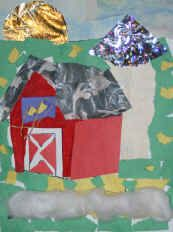 """Provide the children with glue, scissors and a wide variety of collage materials. try scrunching up some of your materials or ripping it instead of cutting it. Have the children """"color"""" their designs by gluing on the collage materials Farm Animal Coloring Pages, Printing Practice, Big Red Barn, Farm Unit, Teaching Art, Teaching Ideas, Animal Activities, Thematic Units, Farm Theme"""