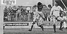 Gillingham 1 Chesterfield 1 in Sept 1985 at Priestfield Stadium. Tony Cascarino heads home for Gillingham #Div3