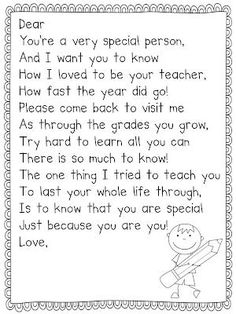 I love this for the end of the year or when a student moves