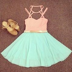Cotton candy colored dress