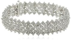Sterling Silver 3.0 Cttw Diamond Bracelet Amazon Curated Collection. $212.00