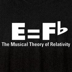 MUSIC THEORY OF RELATIVITY SHIRT