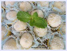 QUITUTES DA ANDRÉA: Docinhos  coco limao gengibre hortela