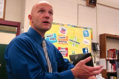 Principal ahead of curve on technology -- and tweets