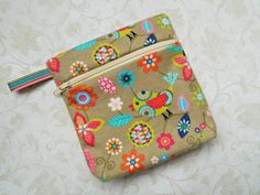 Coin Purse Pouch Cosmetic  READY TO SHIP  Womens  by CyndeesGarden, $9.50