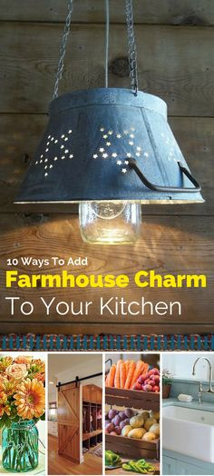 10 Ways to Add Farmhouse Charm to Your Kitchen - easy and great tips to add that charming farmhouse appeal to your very own kitchen.  #spon #blessedbeyondcrazy