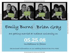 save the date ideas for weddings   Ideas Personalize This Design Here Three Photo Couple S Save The Date ...
